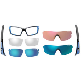 Tifosi Escalate SF Occhiali Uomo, crystal blue - clarion blue/ac red/clear